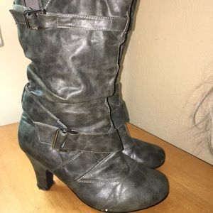 Size 12. taylor. women's black heeled boots